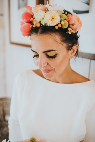 'Frida Kahlo' inspired flower crown