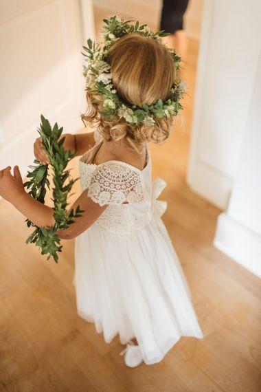 White Monsoon flower girl dress