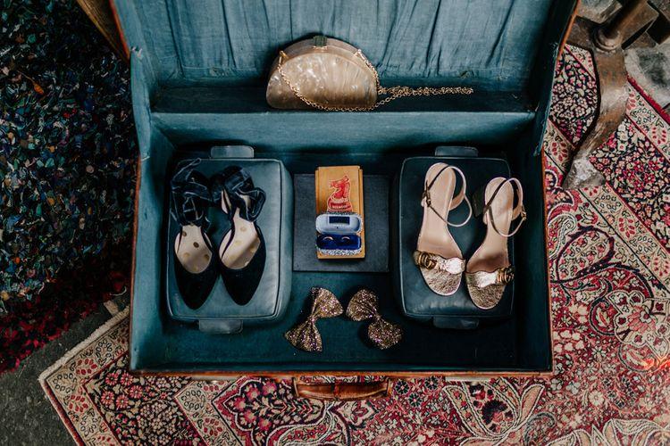 Vintage Suitcase Full of Bridal Accessories-011