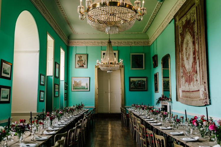 Grand Dining Room at Walcot Hall in Shropshire