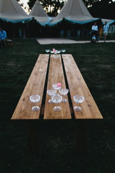 Prosecco Pong At Wedding Reception // Image By Jason Williams Photography