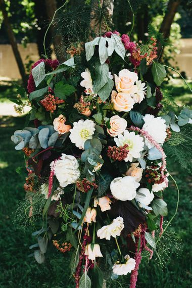 Floral Arch For Wedding Ceremony // Image By Jason Williams Photography