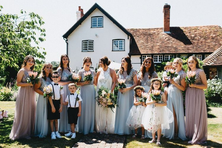Bridesmaids In Pale Blue Dresses // Image By Jason Williams Photography