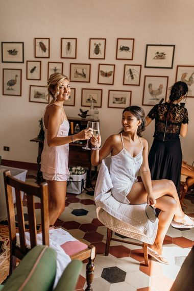 Bridal preparations for Italian wedding