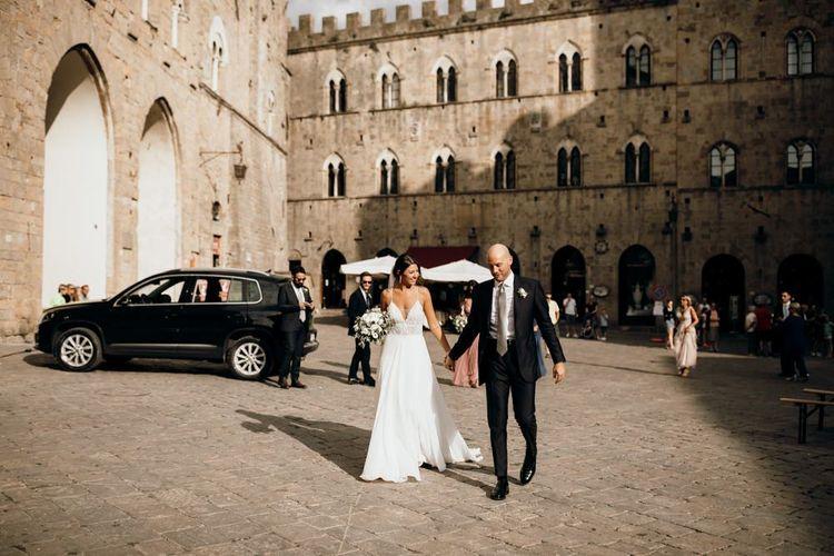 Italian wedding with Justin Alexander wedding dress