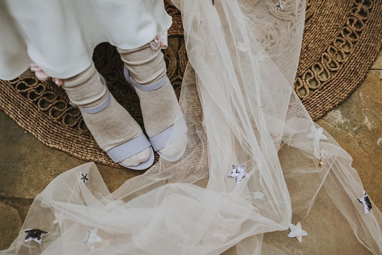Fifth & Spring Socks | Muscat Bridal Gown | Lavender, Peach & Black Geek Chic Wedding at Swiss Garden Fernery & Grotto, Shuttleworth | Planning & Styling by Rose & Dandy | Lola Rose Photography