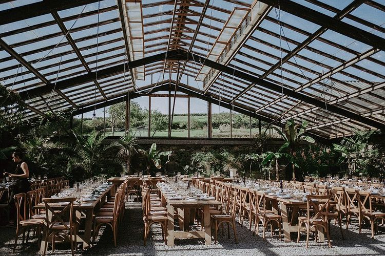 Anran glasshouse wedding venue in Devon