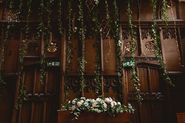 Geometric Details & Hanging Foliage For Hengrave Hall Wedding With Outdoor Reception With Images From Sam And Louise Photography