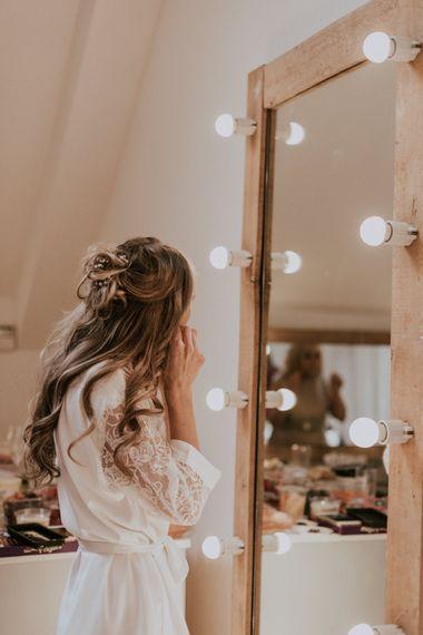 Wedding Morning Bridal Preparations | Getting Ready Robes | Millbridge Court, Surrey Wedding with DIY Decor, Foliage & Giant Balloons | Nataly J Photography