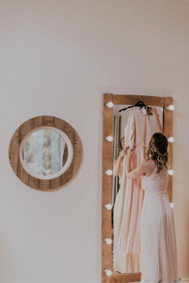 Wedding Morning Getting Ready Robes | Millbridge Court, Surrey Wedding with DIY Decor, Foliage & Giant Balloons | Nataly J Photography