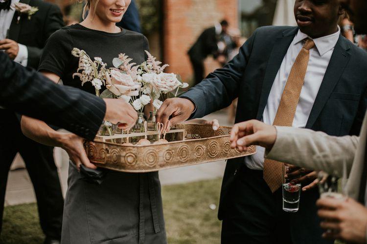 Wedding Catering | Millbridge Court, Surrey Wedding with DIY Decor, Foliage & Giant Balloons | Nataly J Photography
