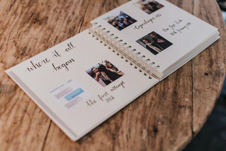 Bride & Groom Story Book | Millbridge Court, Surrey Wedding with DIY Decor, Foliage & Giant Balloons | Nataly J Photography