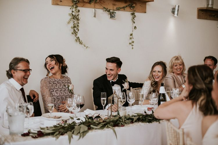Wedding Reception Speeches | Millbridge Court, Surrey Wedding with DIY Decor, Foliage & Giant Balloons | Nataly J Photography