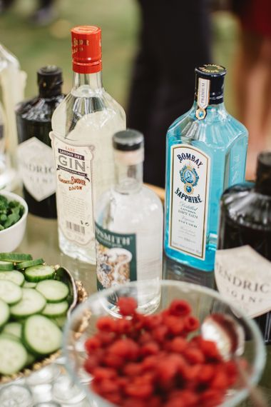 Gin Bar At Wedding // French Destination Wedding Bordeaux  Marry Me In France Suzanne Neville Bride Darek Smietana Photography