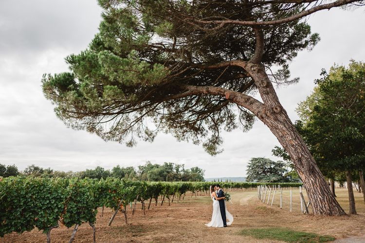 Bride In Suzanne Neville // French Destination Wedding Bordeaux  Marry Me In France Suzanne Neville Bride Darek Smietana Photography