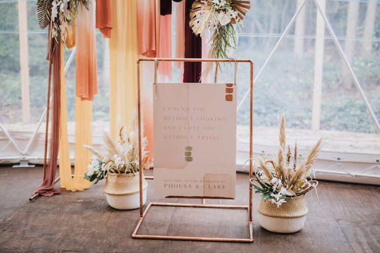 Bohemian Wedding Decor in Geometric Dome