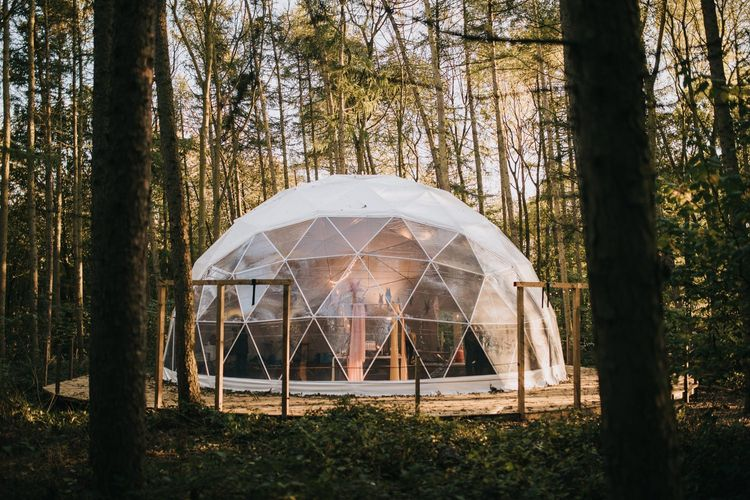 Geometric Dome Wedding Venue at Camp Katur in Yorkshire