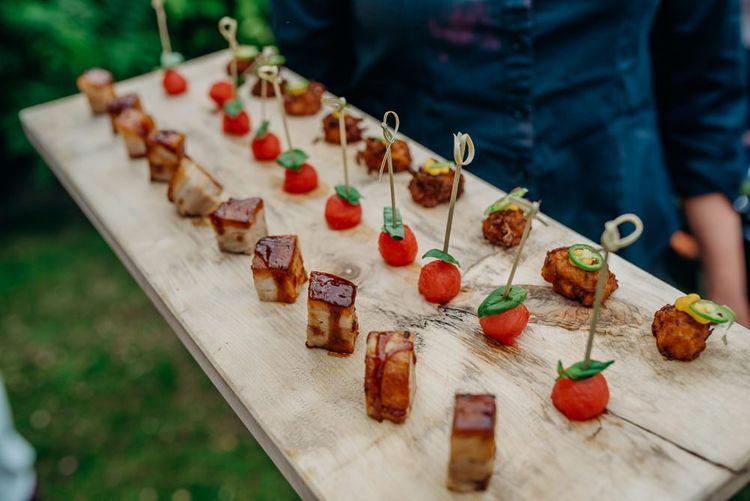 Wedding canapés at Ever After, The Dartmoor Wedding Venue