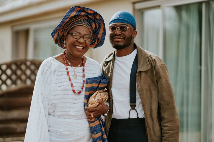 Mother of the groom in Nigerian Yoruba outfit