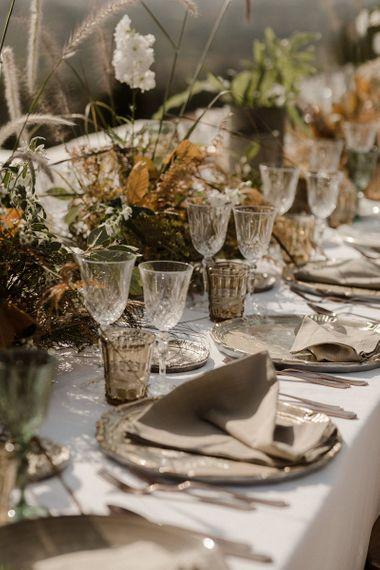 Coloured glass ware for Italian wedding