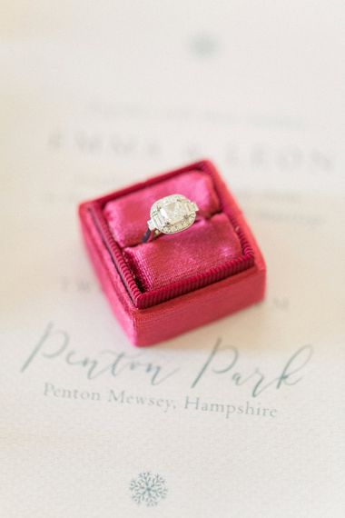 Red Ring Box For Wedding //  Anneli Marinovich Photography