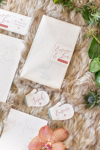 Winter Wedding Stationery Suite With Stag Motif //  Anneli Marinovich Photography