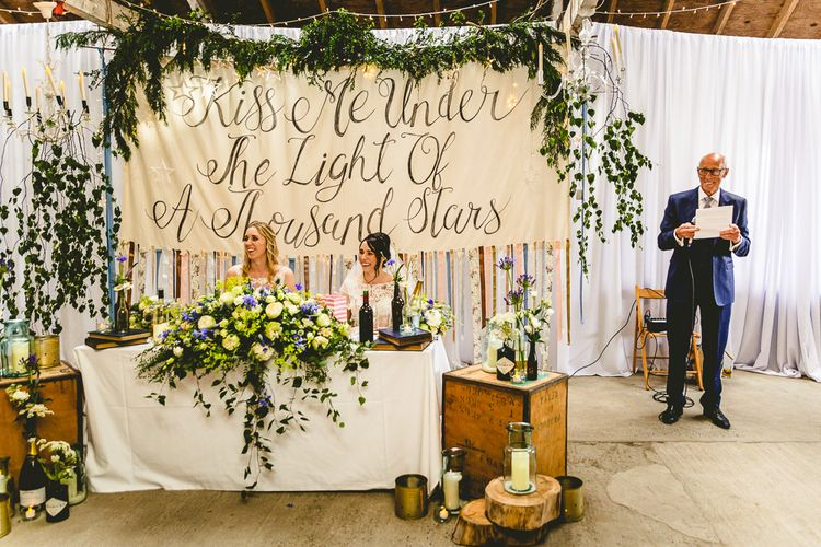 Giant Banner For Wedding With Song Lyrics