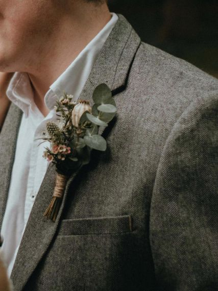 Wool Blazer with Rustic Buttonhole