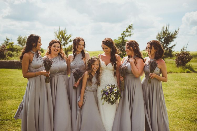 Grey multiway bridesmaid dresses