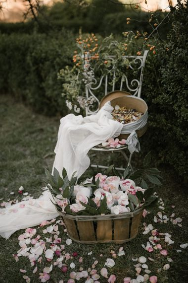 Floral Display   Confetti   Fairytale Tuscan Wedding with Bride in Embroidered Dress   Andrea & Federica Photography