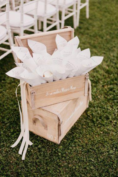 Wooden Confetti Cone Boxes