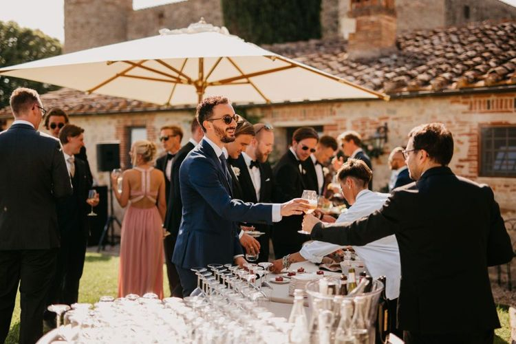 Outdoor Drinks Reception in Tuscany