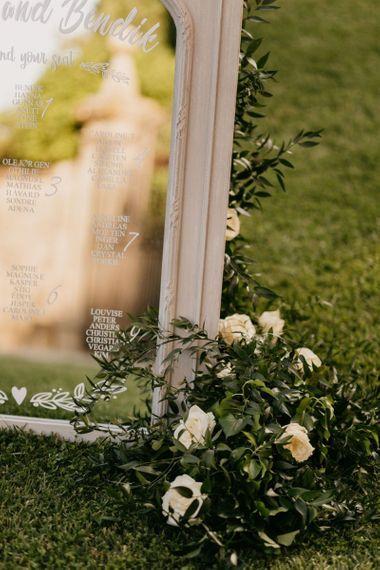 White Roses and Foliage Wedding Flowers