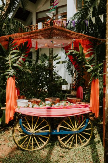 Food Cart For Wedding At Goa Villa