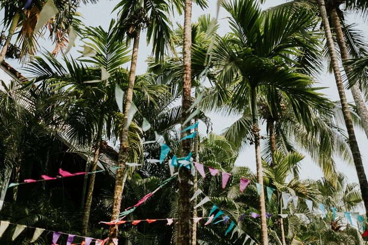 Palm Trees And Wedding Bunting