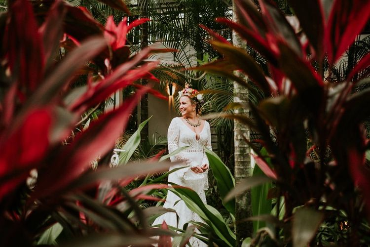Bride Amongst Foliage