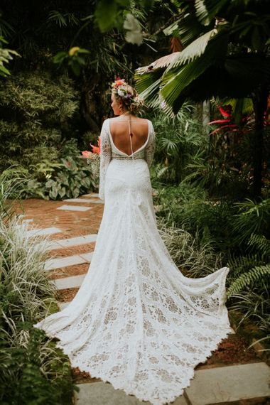 Rish Bridal Lace Wedding Dress Low Back