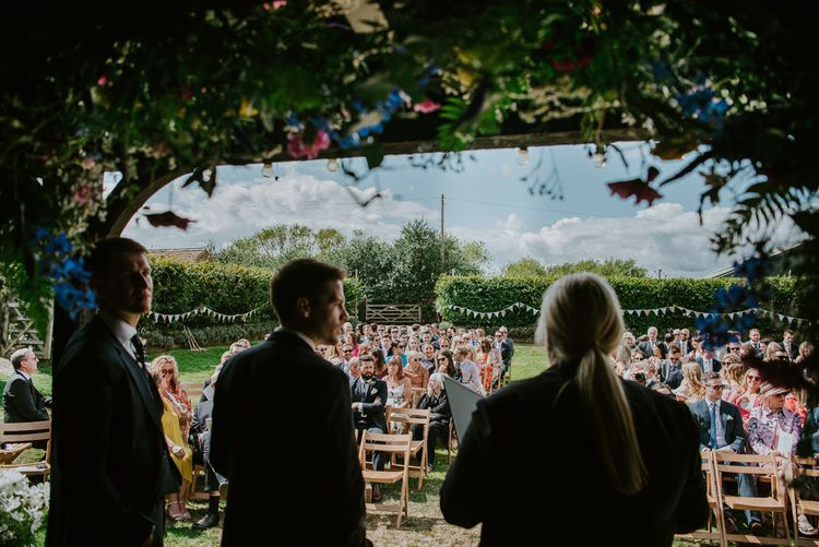 Outdoor Wedding Ceremony at Elmley Nature Reserve in Kent