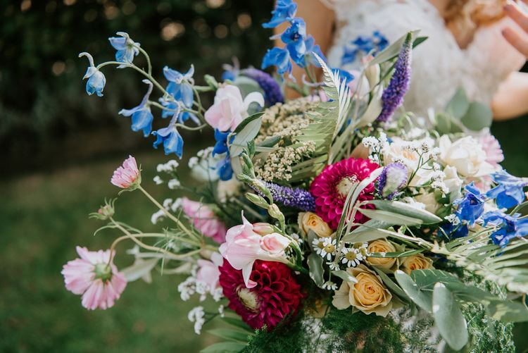 Colourful Wildflower Wedding Bouquet
