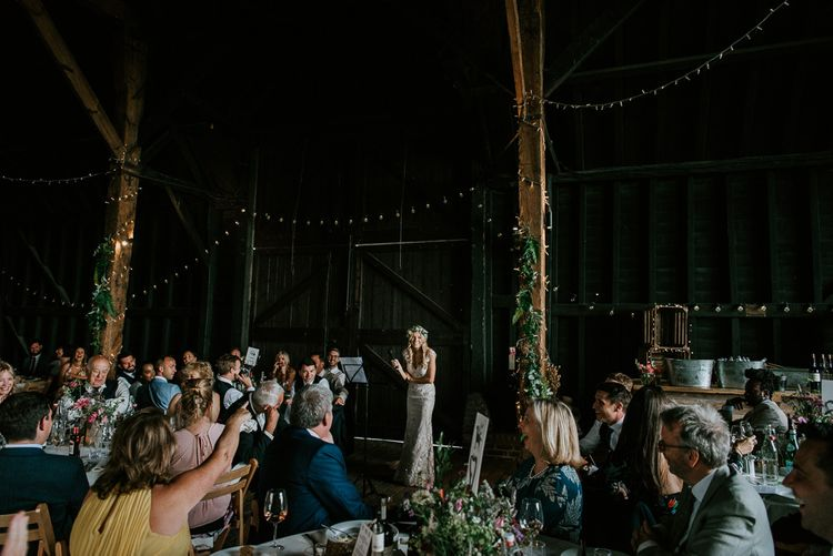 Barn Wedding Reception at Elmley Nature Reserve in Kent