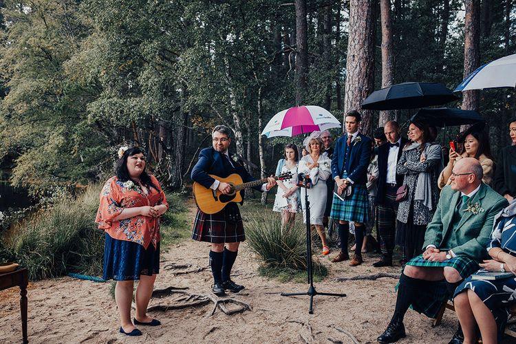 Outdoor Wedding Ceremony at Loch Garten in Scotland