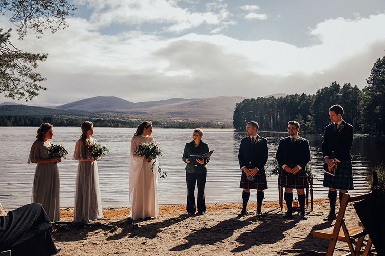 Outdoor Wedding Ceremony at Loch Garten with Quaich Cup
