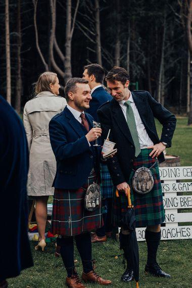 Groomsmen in Scottish Highland Wear