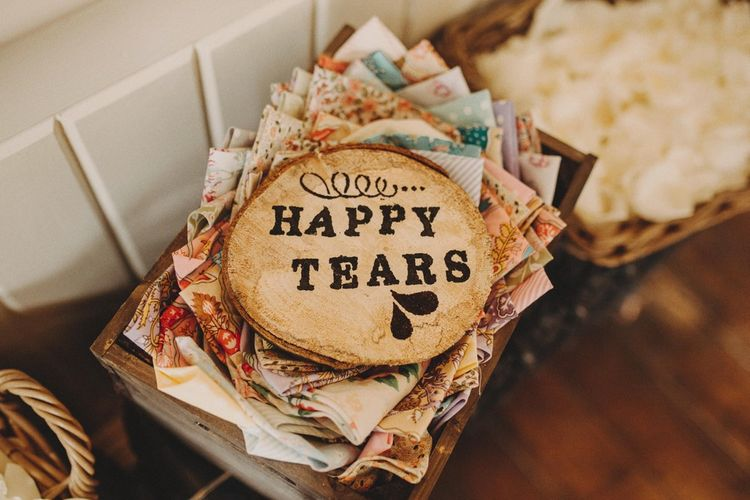 Happy Tears Wedding Tissues For Ceremony