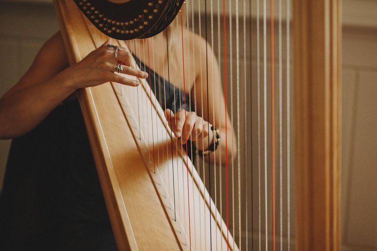 Harpist Plays During Ceremony