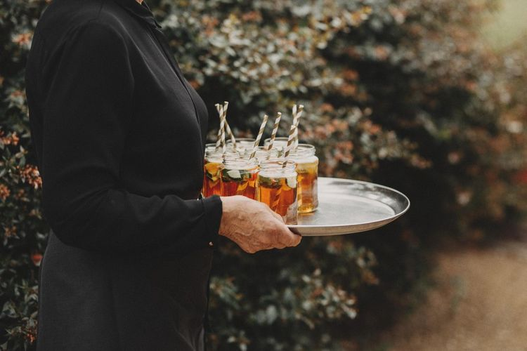 Wedding Drinks For Guests On Venue Lawns
