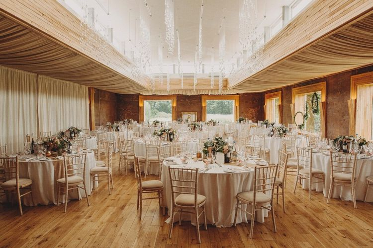 Summer Wedding Reception Table Set Up