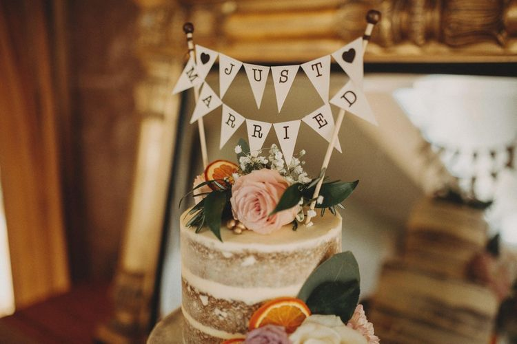 'Just Married' Wedding Cake Topper Mini Bunting