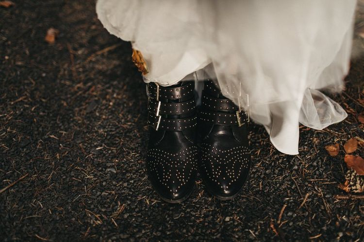Bridal boots for wedding at Guardswell Farm