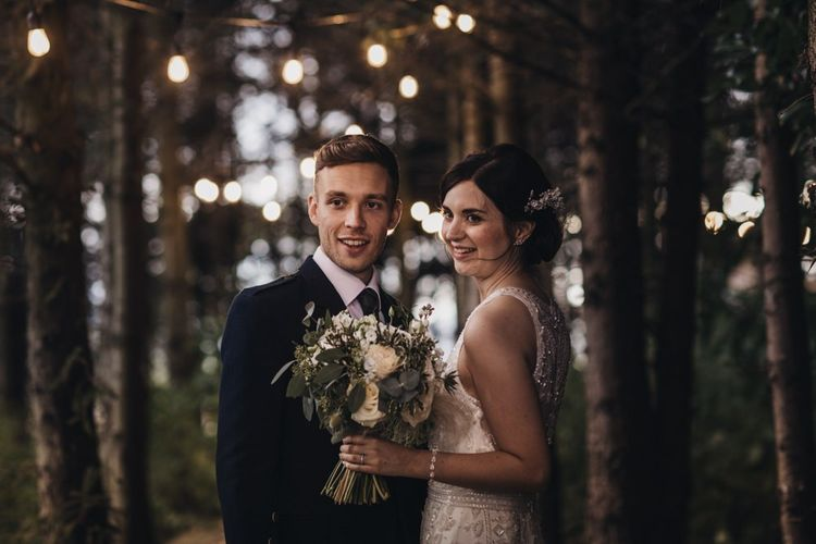 Autumn wedding for bride and groom
